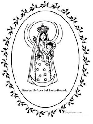 Colorear Nuestra Señora del Santo Rosario de  Guatemala