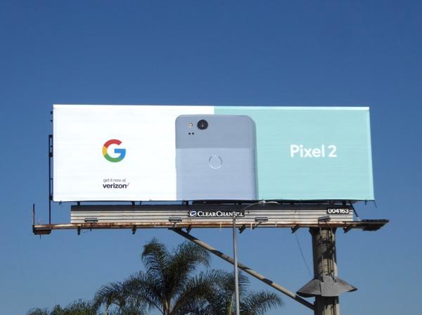Google Pixel 2 billboard