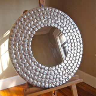 Mis puntadas preferidas espejos decorados con distintos for Decoracion con espejos cuadrados