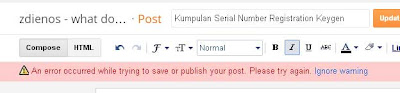 "Mengatasi pesan Error ""An error occurred while trying to save or publish your post. Please try again"""