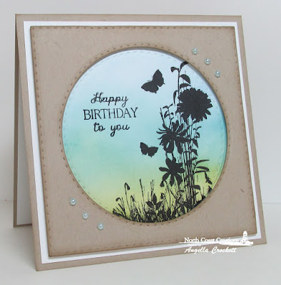 NCC Heaven's Masterpiece, ODBD Custom Double Stitched Squares Dies, ODBD Custom Double Stitched Circles Dies, Card Designer Angie Crockett