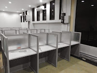Meja Sekat Cubicle Table Knockdown - Custom Furniture Kantor Semarang
