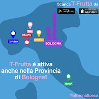 Logo T-Frutta attiva anche a Torino e Bologna