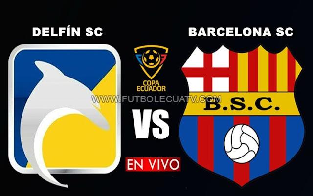 Delfín choca ante Barcelona SC en vivo a partir de las 16:00 horario local por la semifinal vuelta de la Copa Ecuador a efectuarse en el reducto Jocay de Manta, teniendo como árbitro principal a mencionar luego con emisión de los canales autorizados CNT Sports, TVCable y DirecTV Sports.