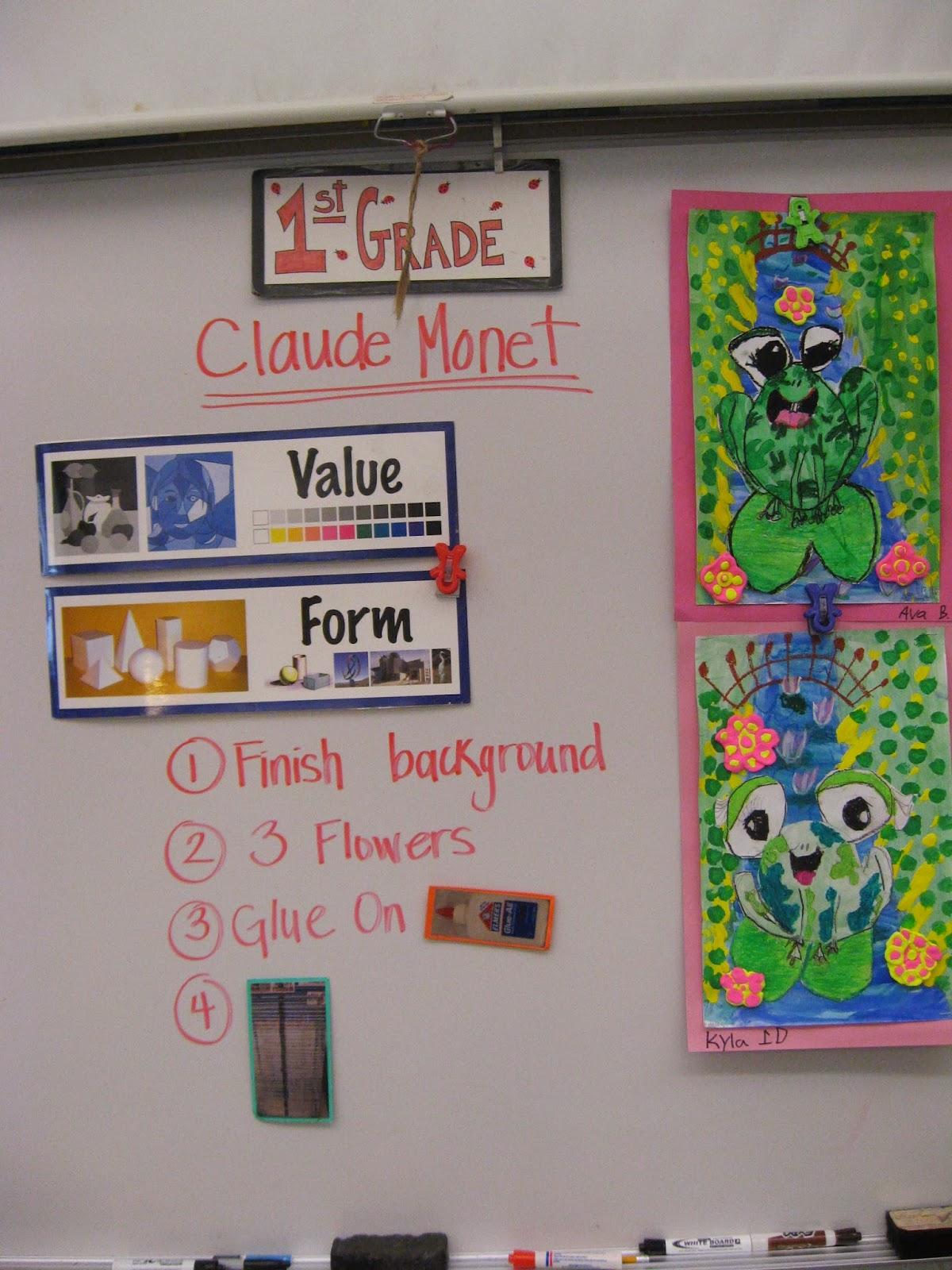 Jamestown Elementary Art Blog 1st Grade Claude Monet