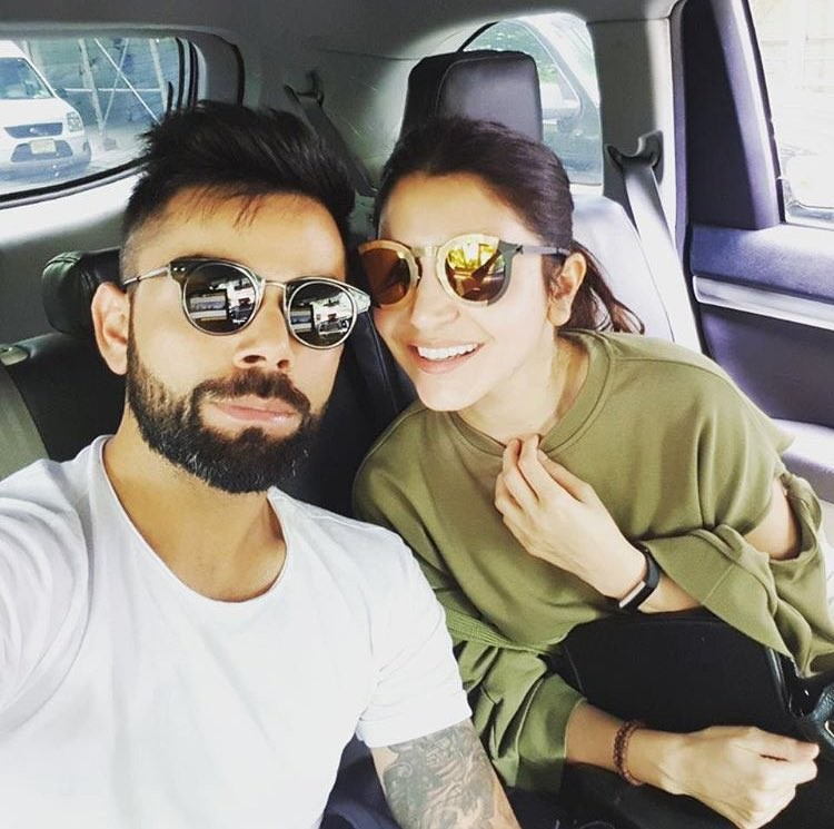 Virat Kohli with Anushka Sharma from America Vacation