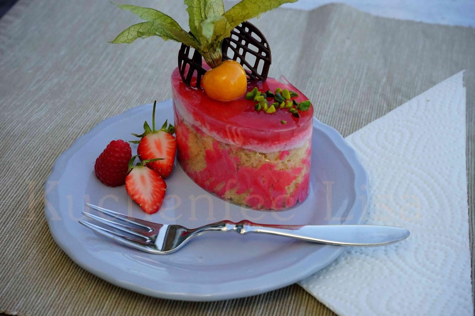 Kuchenfee Lisa Mirror Glaze ~ beeren mousse törtchen mit dekorrand u2013 kuchenfee lisa