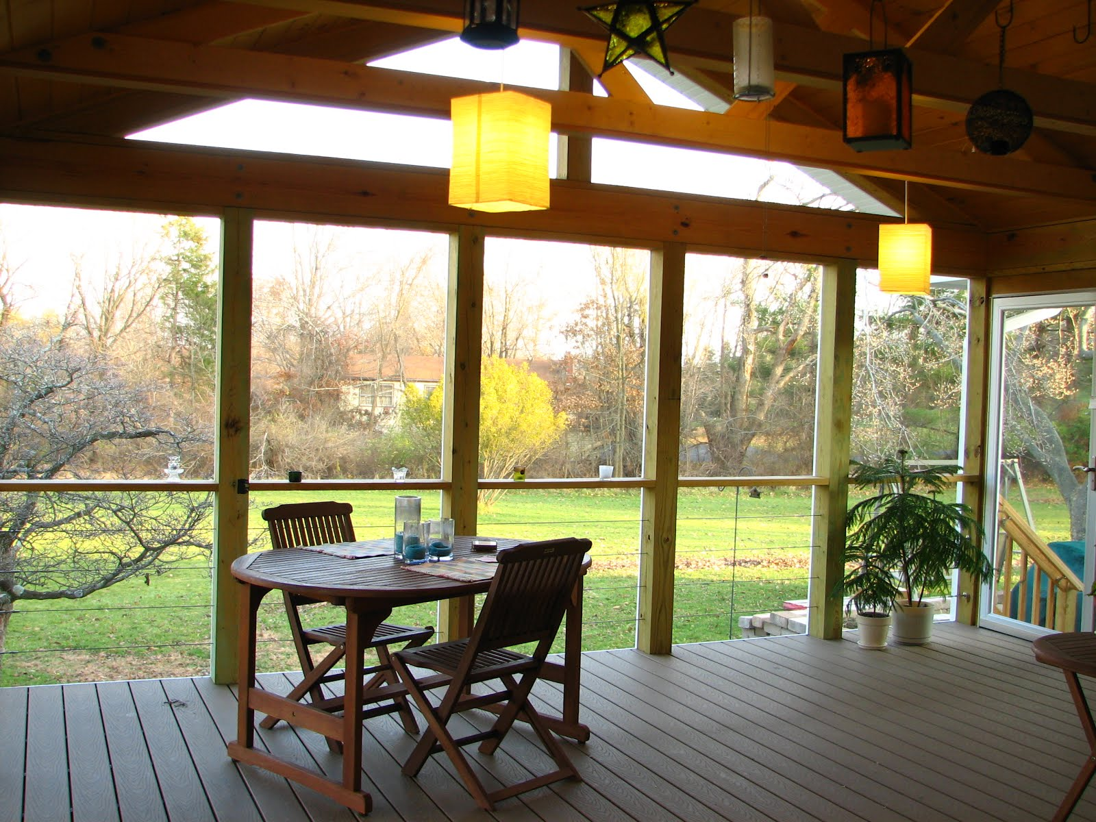 King Truss Screened Porch