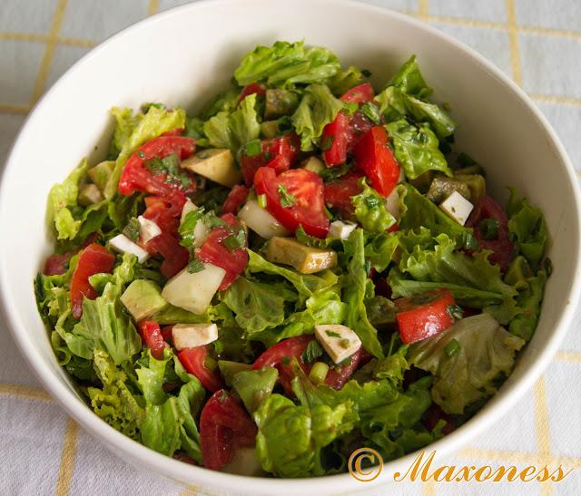 Салат с авокадо и мятой от Джейми Оливера