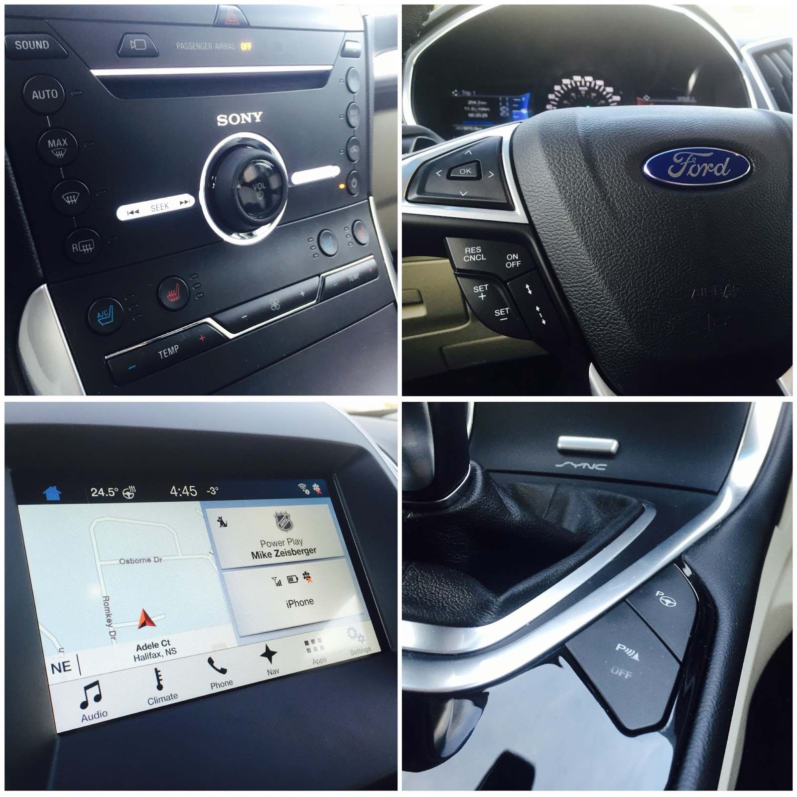 Ford Edge Titanium Interior Details