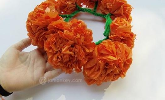Como Hacer Flores De Cempasuchil De Papel De China O Crepe