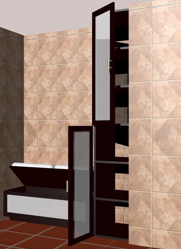 Proyecto Mueble Funcional Diseño De Mobiliario A Medida: Mobiliario Para Baño, Banca Y Mueble De Almacenamiento