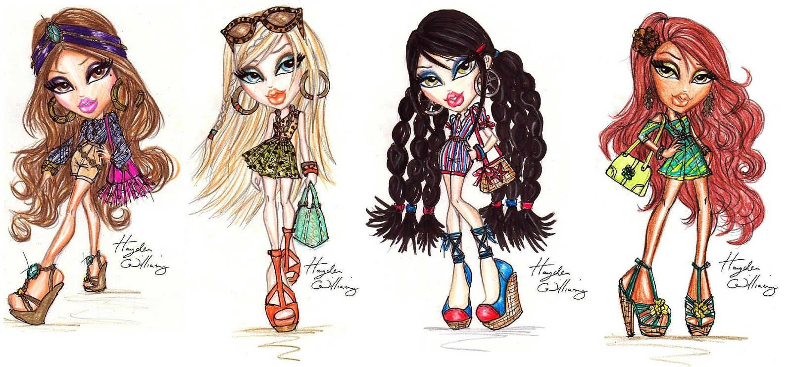 Hayden Williams Fashion Illustrations Bratz Style It Full Collection By Hayden Williams