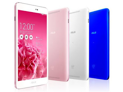 Asus Memo Pad 8 ME581CL Specifications - LAUNCH Announced 2014, June DISPLAY Type IPS LCD capacitive touchscreen, 16M colors Size 8.0 inches (~70.8% screen-to-body ratio) Resolution 1200 x 1920 pixels (~283 ppi pixel density) Multitouch Yes, up to 10 fingers Protection Corning Gorilla Glass 3 BODY Dimensions 213 x 123 x 7.5 mm (8.39 x 4.84 x 0.30 in) Weight 299 g (10.55 oz) SIM Yes PLATFORM OS Android OS, v4.4.2 (KitKat) CPU Quad-core 2.3 GHz Chipset Intel Atom Z3580 GPU PowerVR G6430 MEMORY Card slot No Internal 16/32 GB, 2 GB RAM CAMERA Primary 5 MP Secondary 1.2 MP Features Geo-tagging Video Yes NETWORK Technology GSM / HSPA / LTE 2G bands GSM 850 / 900 / 1800 / 1900 3G bands HSDPA 850 / 900 / 1900 / 2100 4G bands LTE band 3(1800), 7(2600), 20(800) Speed HSPA 42.2/5.76 Mbps, LTE Cat4 150/50 Mbps GPRS Yes EDGE Yes COMMS WLAN Wi-Fi 802.11 a/b/g/n/ac, dual-band, hotspot NFC Yes GPS Yes, with GLONASS USB microUSB v2.0 Radio No Bluetooth v4.0 FEATURES Sensors Accelerometer, gyro, compass Messaging Email, Push Mail, IM Browser HTML5 Java No SOUND Alert types Vibration; MP3, WAV ringtones Loudspeaker Yes, with stereo speakers 3.5mm jack Yes BATTERY  Non-removable Li-Po battery (15.2 Wh) Stand-by  Talk time Up to 9 h (multimedia) Music play  MISC Colors White, Pink, Blue  - MP3/WAV/WMA/AAC player - MP4/H.264 player - Document viewer - Photo viewer/editor - Voice memo