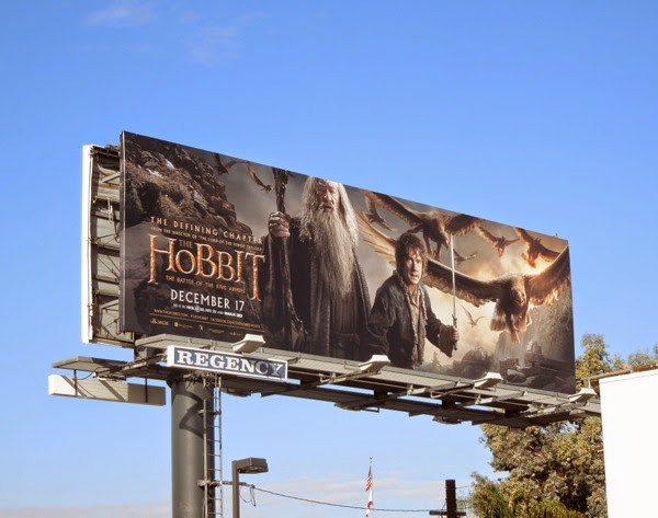 Hobbit Battle of the Five Armies Eagles billboard