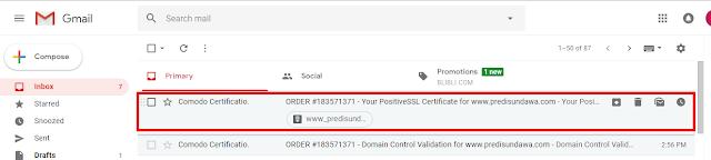 comodo certificat berhasil dikirim dari comodo penyedia layanan ssl