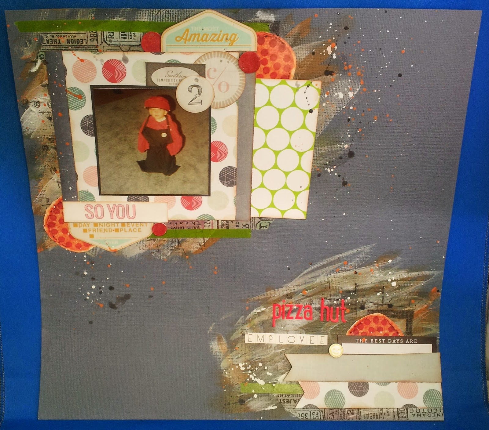 Pizza hut employee scrapbook layout
