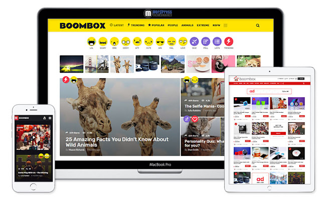 قالب فيرال - قالب BoomBoz - تحميل - قوالب فيرال ووردبريس - Viral Theme
