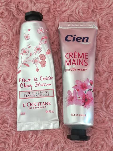 La crème pour les mains à la fleur de cerisier l'Occitane