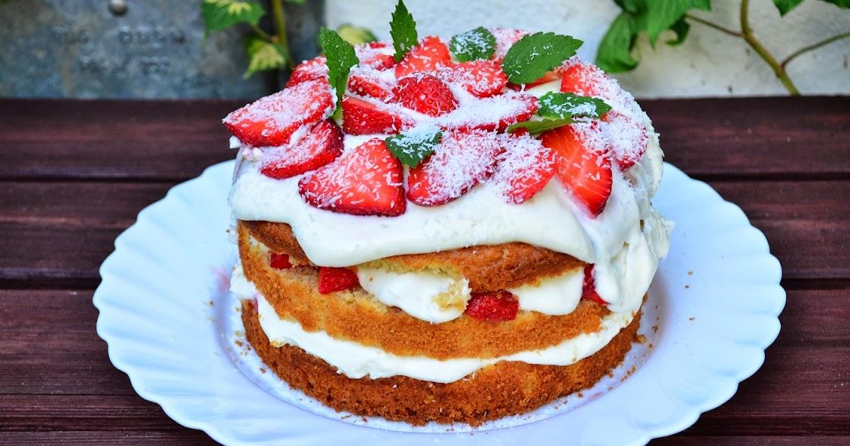 Estrellacanela Erdbeer Kokos Kuchen Mit Buttermilch