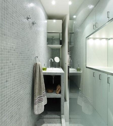 Boiserie c bagni soluzioni in pochi metri quadrati - Progetto bagno 4 mq ...