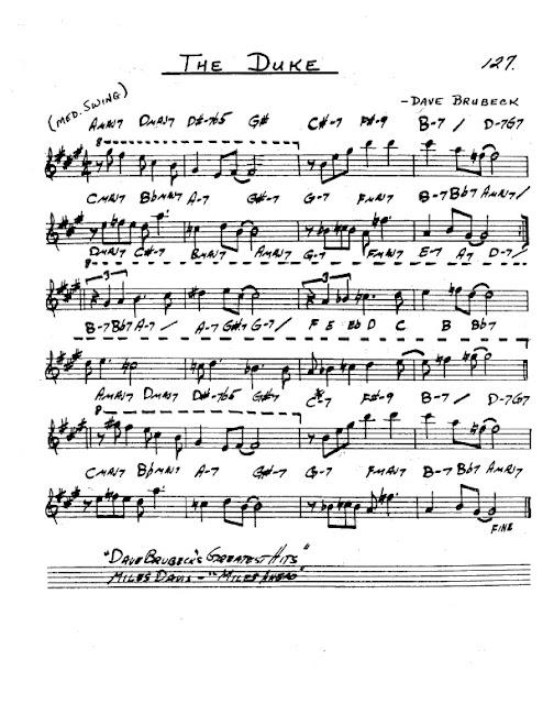 Partitura Saxofón Dave Brubeck