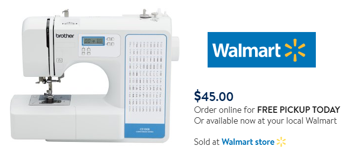 Brother 40Stitch Computerized Sewing Machine 40 Reg 40 Free Enchanting Walmart Sewing Machine