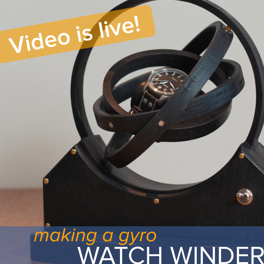 how to make a gyroscopic watch winder | the time bum