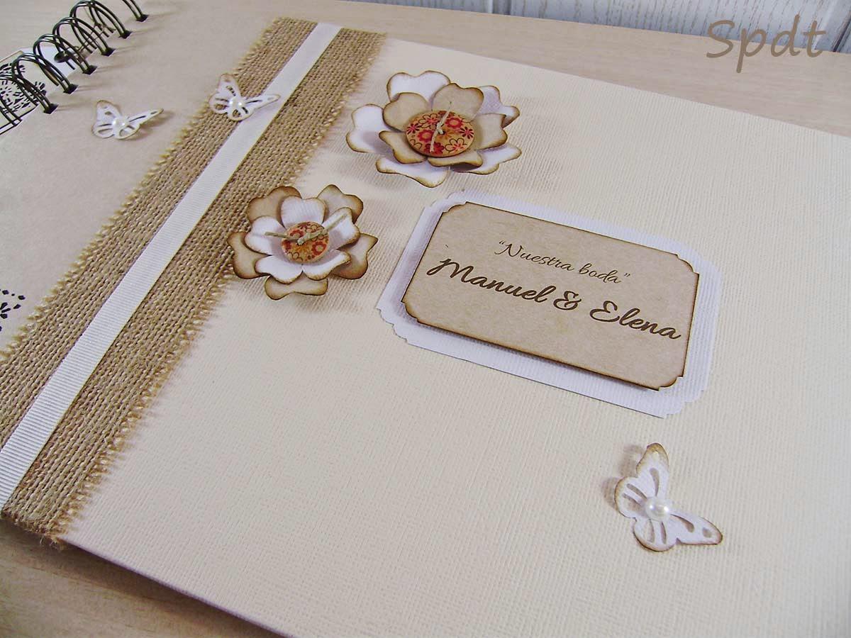 libro firmas rústico bodas