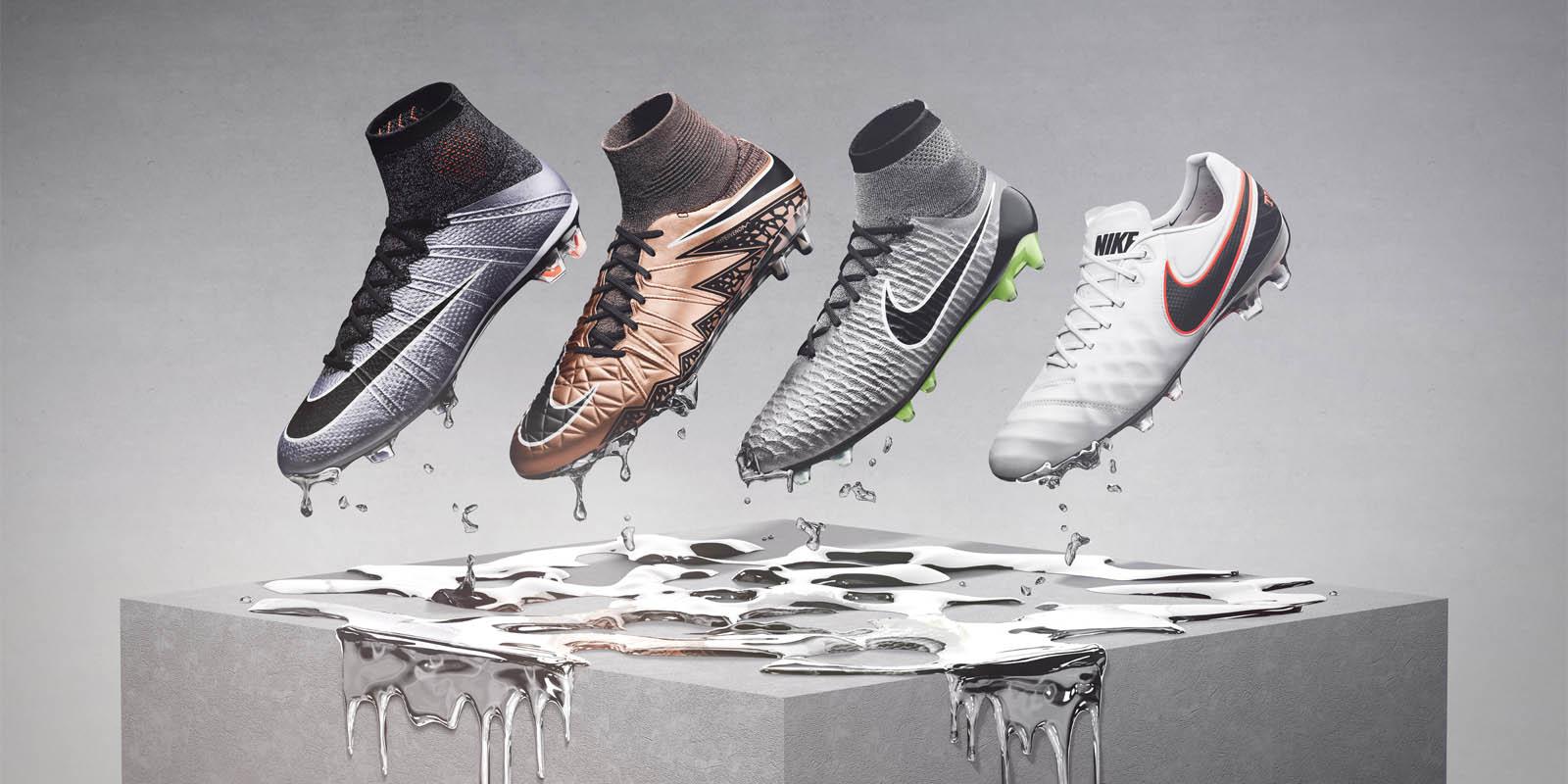 Produce Cambiarse de ropa Albardilla  Nike Liquid Chrome 2015-2016 Football Boots Pack Released - Footy Headlines