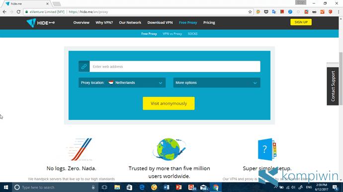 hide.me proxy situs yang diblokir