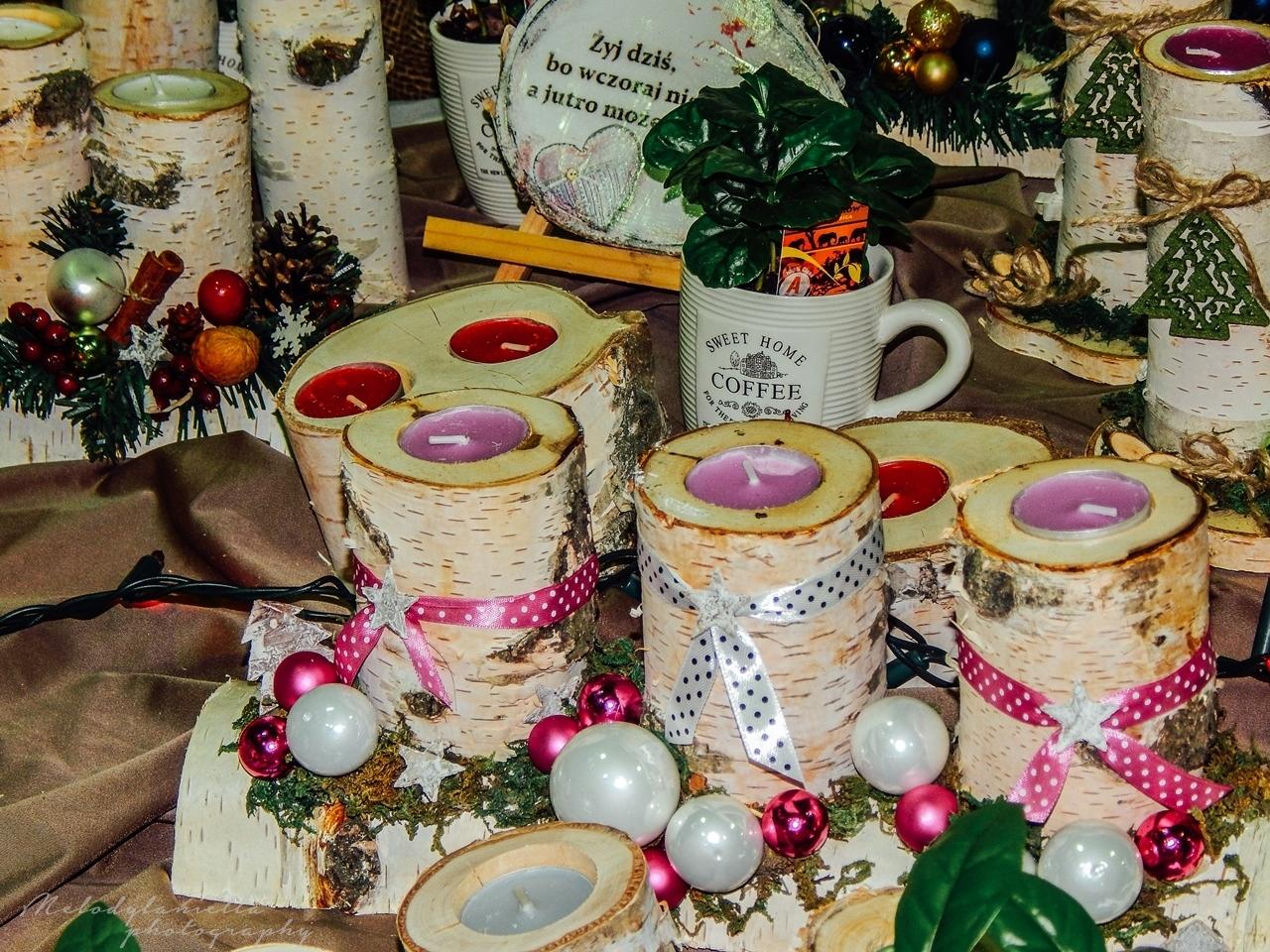 pomysł na świąteczny prezent Boże Narodzenie ręcznie robione świeczniki