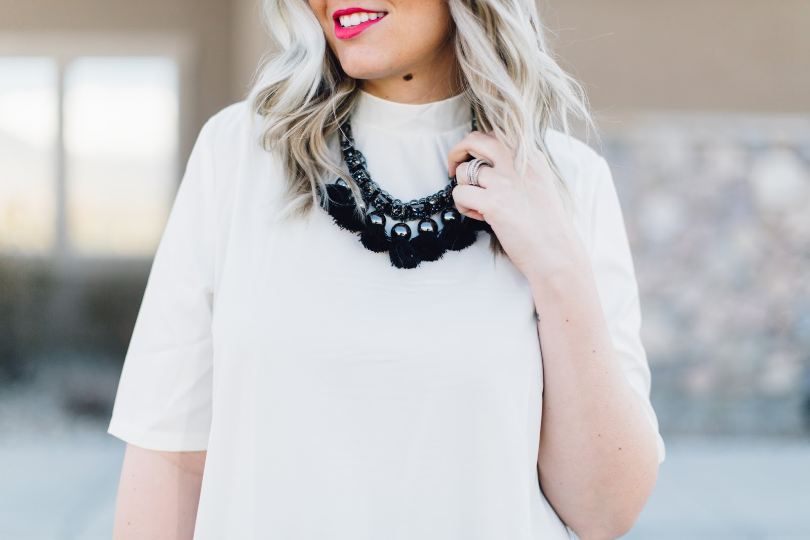 Statement Necklace, Balayage Hair, Fashion Blogger