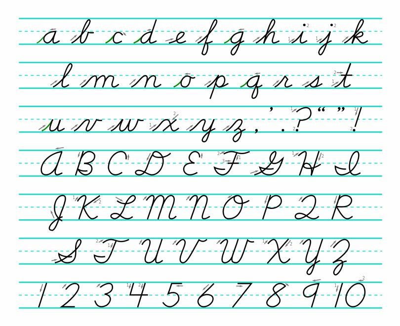 Printable Worksheets palmer handwriting worksheets : Cursive Handwriting | Hand Writing