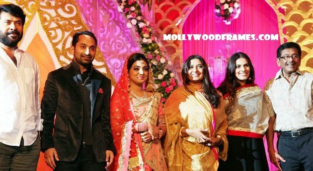Fahad Fazil and Nazriya wedding reception photos