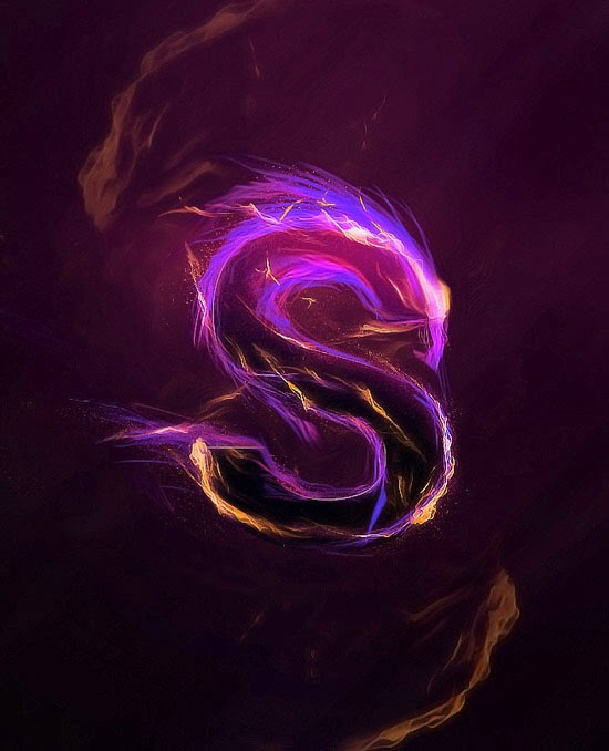 Design Magical Fire Energy Text Effect