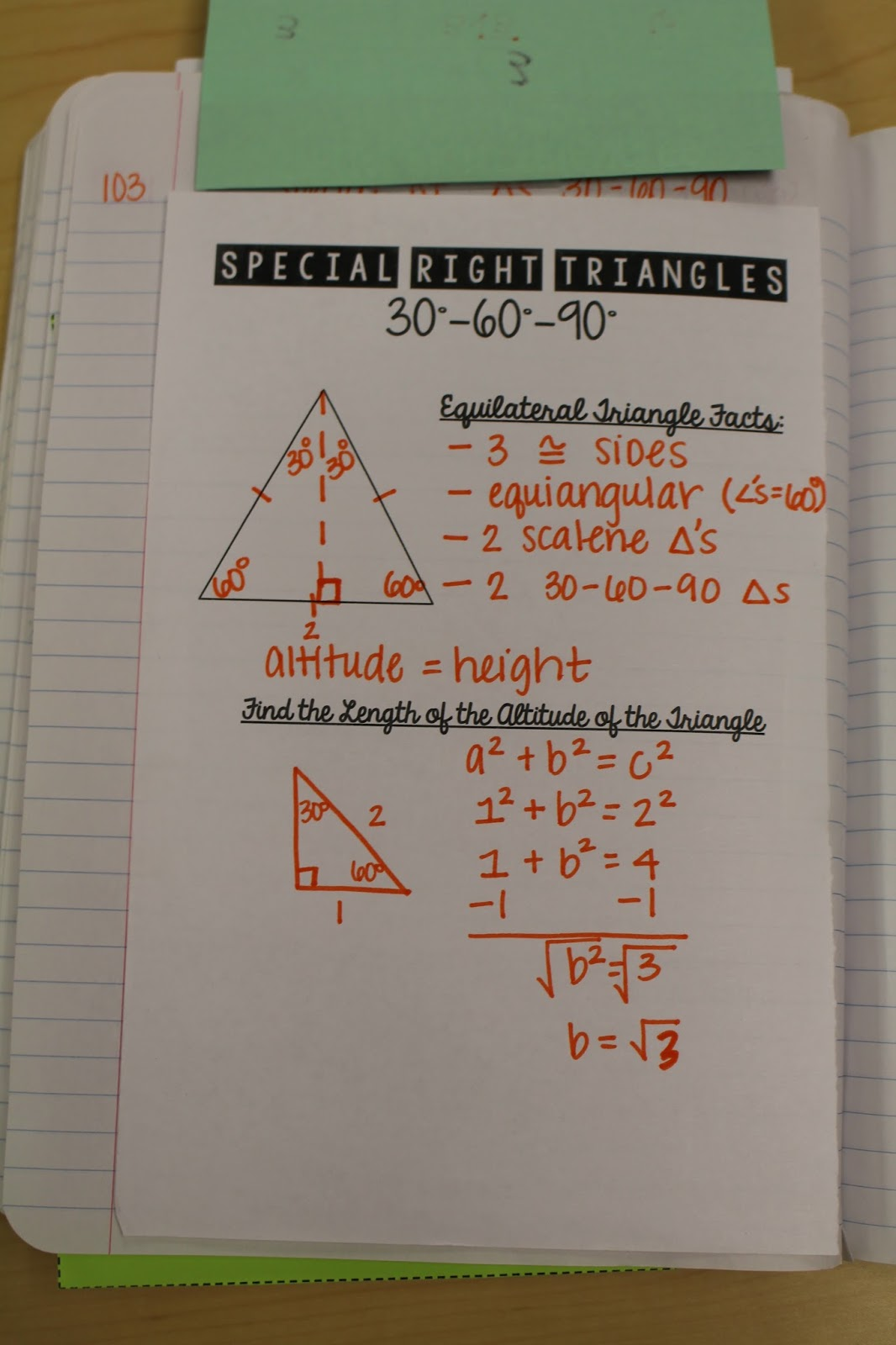 Right Triangles Unit