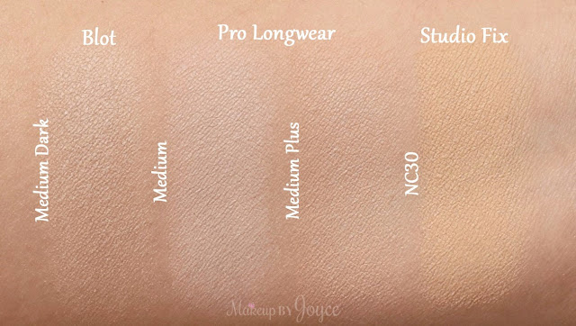 MAC Studio Fix Powder Plus Foundation NC30 Swatches