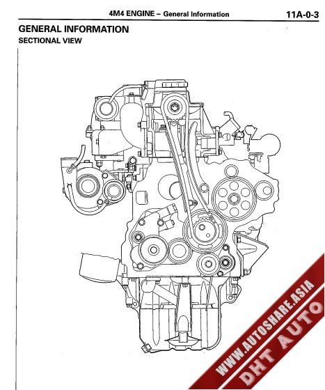 Mitsubishi Canter 4m40 Engine
