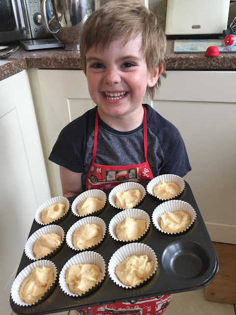 Bert with his fairy cake batter ready for baking