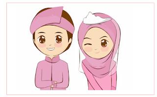 kartun muslim untuk undangan
