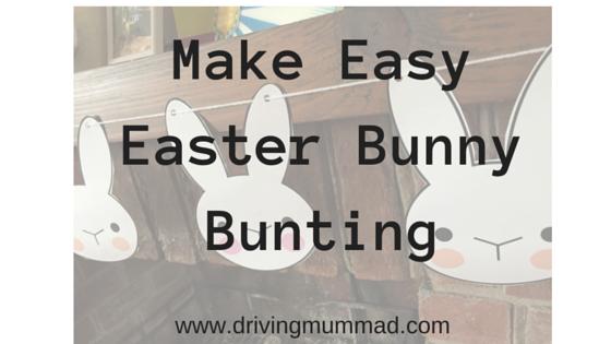 Make Easy Easter Bunny Bunting