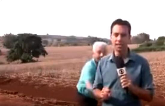 Em Rolândia morador assusta repórter da Globo que falava de onças - Img1