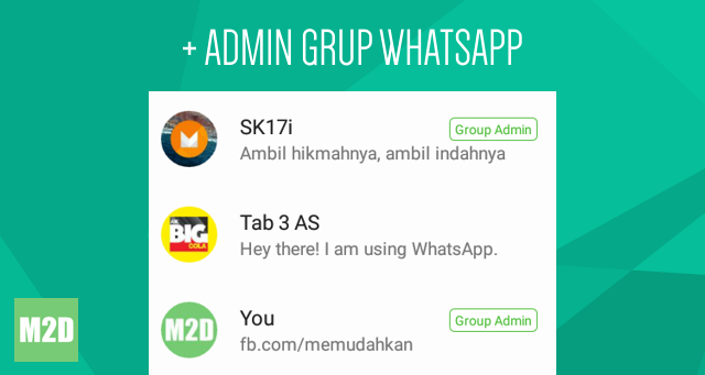 Menambahkan Admin Baru di Grup WhatsApp