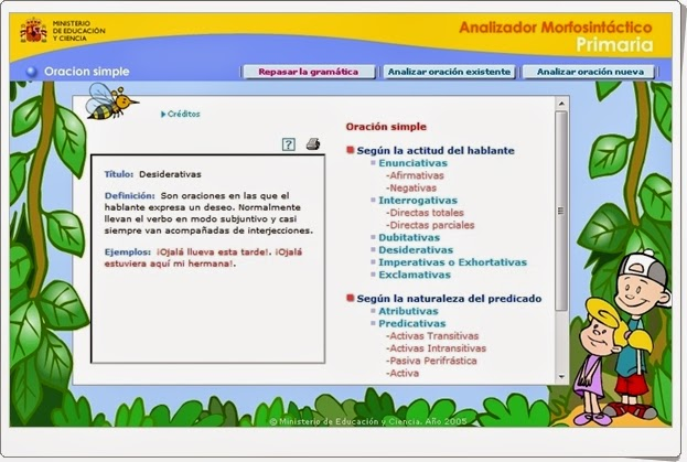 """""""Analizador morfosintáctico de Primaria"""""""