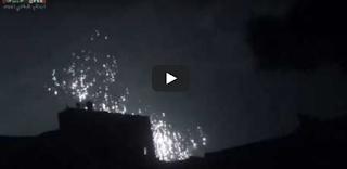 Video Rezim Syiah Suriah Hujani Ghouta Timur dengan Bom