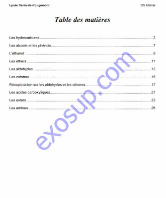 exercices corrigés chimie organique Lycée Denis de Rougemont