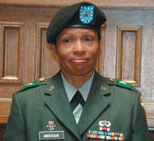 First African American woman major general Marcia Anderson