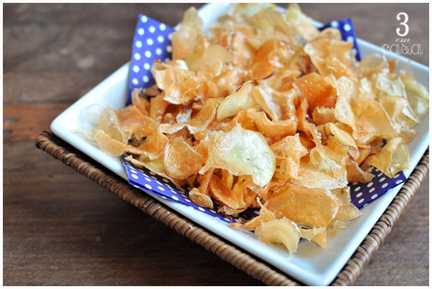 receita chips batata doce fininha