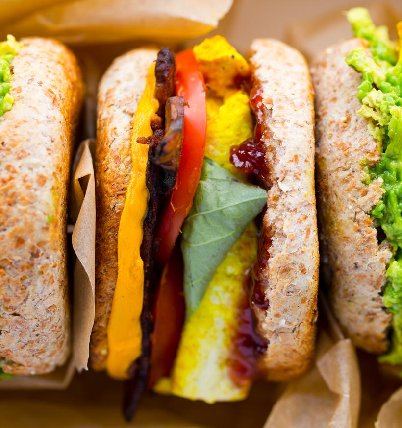Vegan Breakfast Sandwiches with